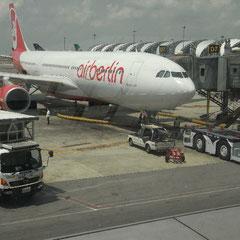 unser Flieger zurück nach München