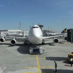 unser Flieger nach Bangkok ....Boeing 747 - Jumbo