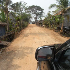 "auf dem Weg zum schwimmenden Dorf ""Kampong Kleang"""