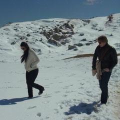 der erste Schneespaziergang