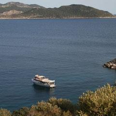 auf dem Weg vom Hotel in den Hafen von Kas - der Ausblick