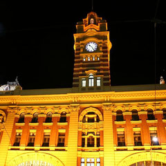 "Der Bahnhof ""Flinders Street Station"" in Melbourne"