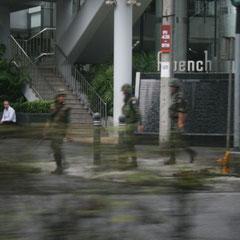 überall Militär in der Stadt