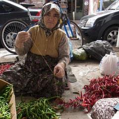und wieder ein Stop. Diesmal auf dem Markt in Muğla