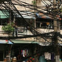 Stromleitungen in China Town