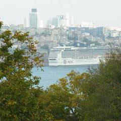Aussicht vom Topkapi Palast auf Istanbul