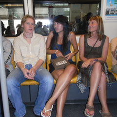 diesmal fuhren wir Sky-Train und U-Bahn