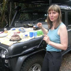 das Geburtstagskind mit Torte