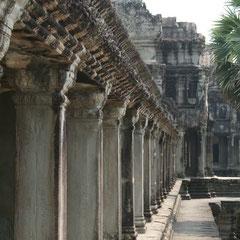 Angkor Wat bestand aus drei Ebenen - Ebene eins für das Volk