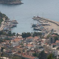 der alte Hafen von Kaş