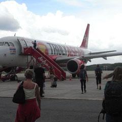 unser Flugzeug von Air Asia