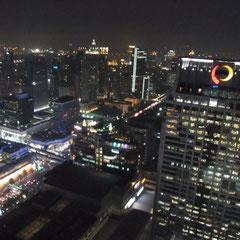 Blick von der Red Sky Bar im 55 Stock unseres Hotels