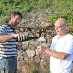 und die Weinprobe beginnt