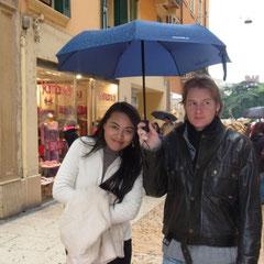 Leider regnete es in Strömen