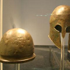 Helme von Athleten