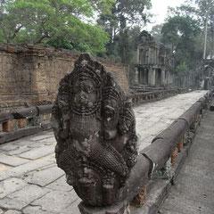 am Ende der Tempelanlage