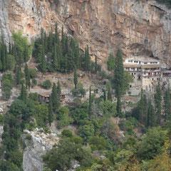 das Prodromou-Kloster in der Lousios-Schlucht