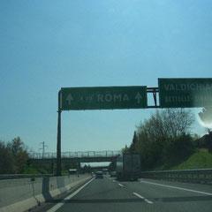 immer Richtung Roma