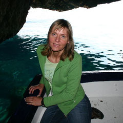 Marita auf dem Glasbodenboot