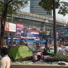Demonstration in der Rama I Road