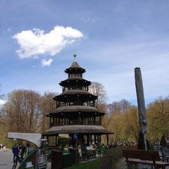 München - Englische Garten - Chinesischer Turm
