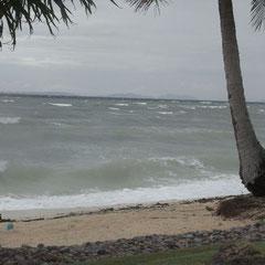 ...........und so stürmte es an unserem Strand