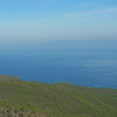 die Aussicht zwischen  Datça und Marmaris