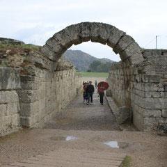 Eingang zu der Antiken Sportstätte