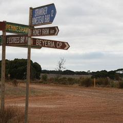 Strassenkreuzung auf Kangaroo Island