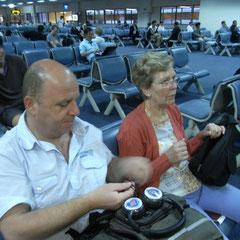 Dong Muaeng Flughafen Bangkok - warten auf das Boarding