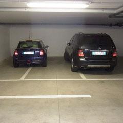 Parken auf Italienisch. Gesehen bei der Abreise