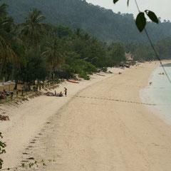 am nächsten Tag - unser Strand