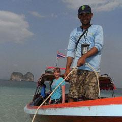 """und trotzdem machten wir noch eine Tour - """"Sole"""" unser Bootsführer"""