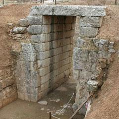 der Eingang zur Grabkammer