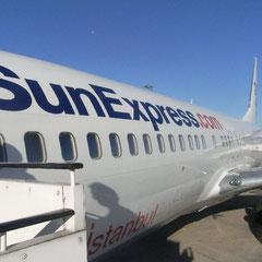 unser Flieger nach Antalya