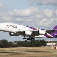 unser Flieger nach Thailand - der neue A 380