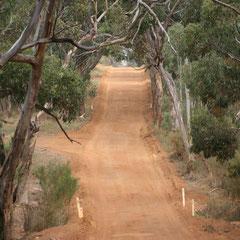 die Strasse zu unserer Unterkunft (Hanson Bay)