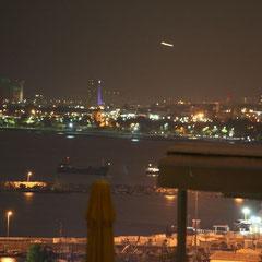 Ausblick von der  Dachterrasse unseres Hotels