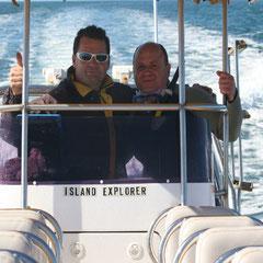 Andrew Neighbour - KI-Marine Tours- mit wilden Delfinen schwimmen - Rüdiger und Andrew