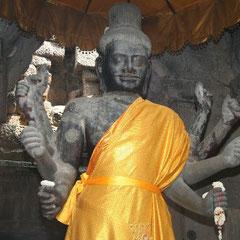 eine Statue in Angkor Wat
