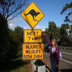 Maritas erstes richtiges Australisches Strassenschild
