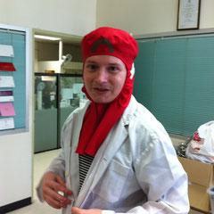Tristans Arbeitsplatz bei Butcher's Choice