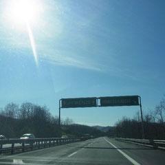Fahrt Richtung Florenz