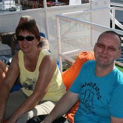 Elke und Uwe an Bord