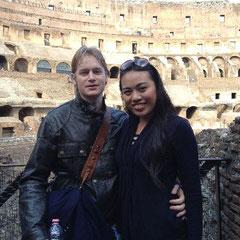 Kevin und Anne im Colosseum