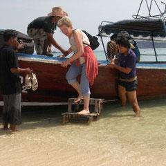 und runter vom Boot