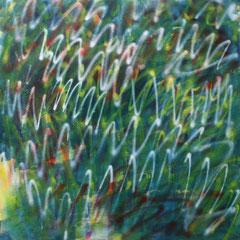o.T., 2015, 170cm x 160cm. Acryl und Spraylack auf Leinwand