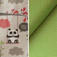 Design PANDA Rot/Grün