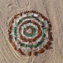 Glasscherben am Strand
