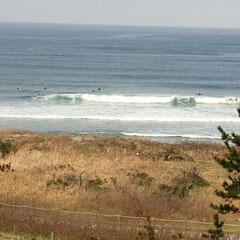 井手が浜でサーフィン